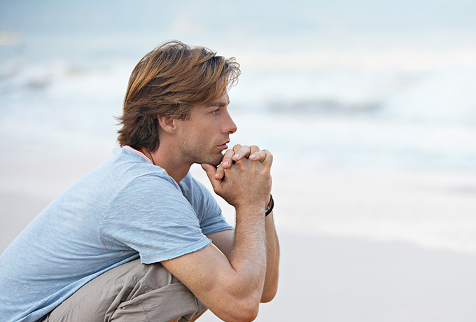 Man contemplating why change is so hard