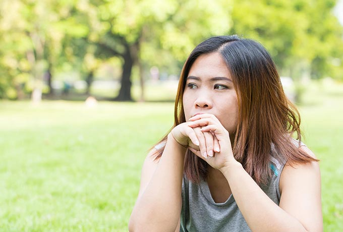 Myths about suicide: Women sat in park thinking about suicide