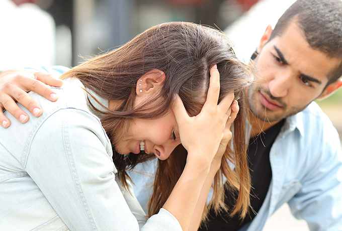 Friend not coping comforting helping