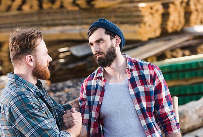 Men talking about suicide prevention
