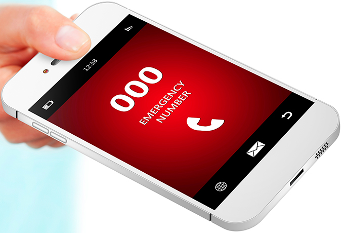 Phone with 000