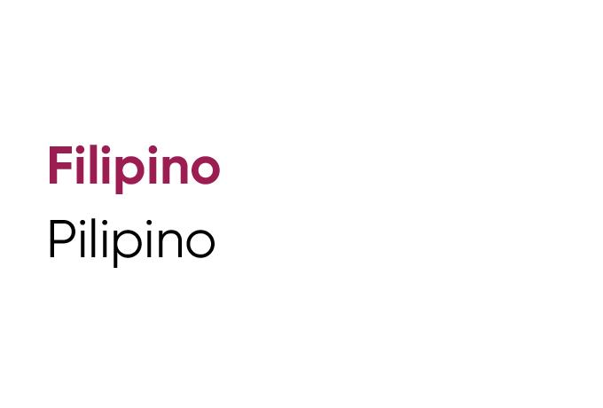 Language Tile Filipino